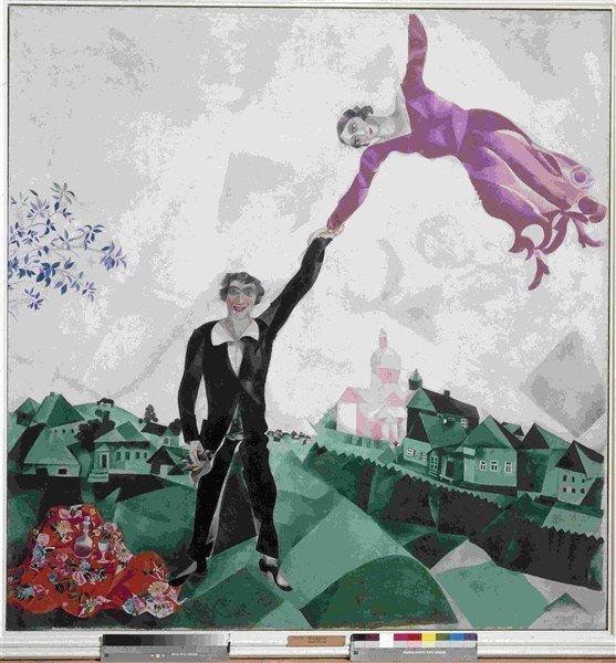 chagall, è stato chiamato - nche - il poeta della leggerezza
