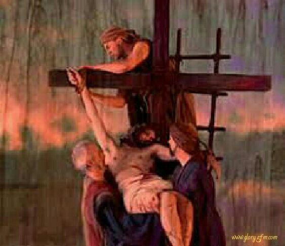 mdiario gesù deposto dalla croce