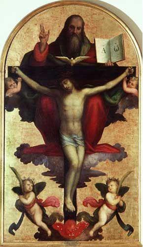 imm diario Mariotto Albertinelli - Trinità - 1500-1505 - Galleria dell'Accademia - Firenze.