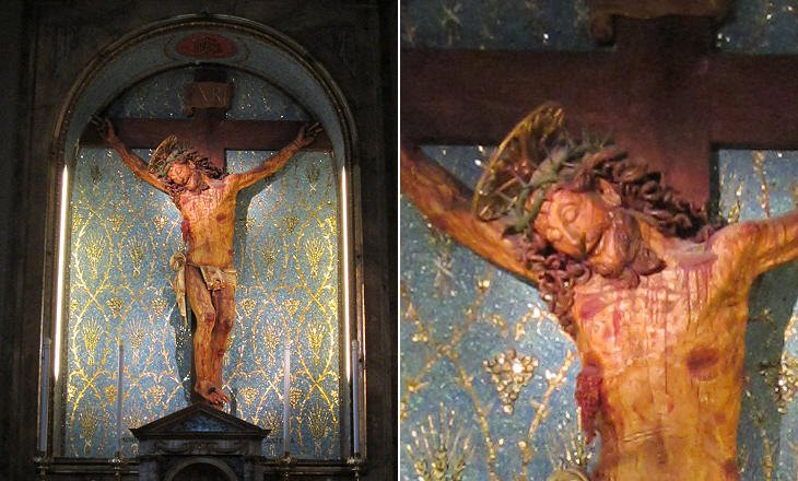 imm diario Crocifisso del Santuario del Crocifisso presso Bassiano (Latina), scolpito nel 1673