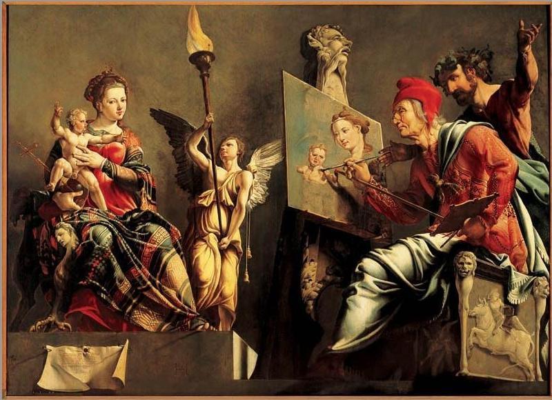 imm diario De_heilige_Lucas_schildert_de_Madonna_-_Maarten_van_Heemskerck-1532